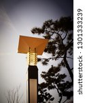 streetlamp at the beach in the... | Shutterstock . vector #1301333239
