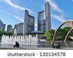 Stock photo toronto ca june nathan phillips square on june in toronto the square is the site 130134578