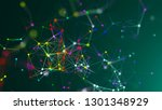 abstract connection dots.... | Shutterstock . vector #1301348929
