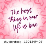 best life love quote for... | Shutterstock .eps vector #1301349406