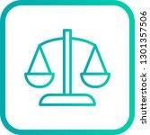 vector balance icon    | Shutterstock .eps vector #1301357506