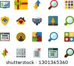 color flat icon set   site flat ... | Shutterstock .eps vector #1301365360