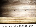 wooden table background of free ... | Shutterstock . vector #1301371456