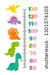 vector height wall chart... | Shutterstock .eps vector #1301376103