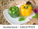 beautiful green and red sweet... | Shutterstock . vector #1301379529