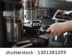 barista prepare coffee working... | Shutterstock . vector #1301381059