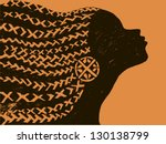 silhouette of woman.beautiful... | Shutterstock .eps vector #130138799