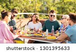 leisure and people concept  ... | Shutterstock . vector #1301395633