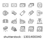 money line icon set. included... | Shutterstock .eps vector #1301400340