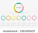 abstract 3d infographic... | Shutterstock .eps vector #1301405629