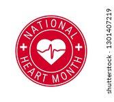 national heart month concept....   Shutterstock .eps vector #1301407219