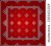 design for square fashion print.... | Shutterstock .eps vector #1301421319