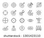 target line icon set. included... | Shutterstock .eps vector #1301423110