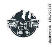 coal mining insignia. vector... | Shutterstock .eps vector #1301437363