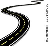 leaving the highway  curved... | Shutterstock .eps vector #1301439730