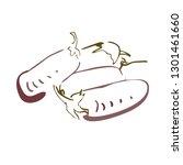 eggplant design. icon   Shutterstock .eps vector #1301461660