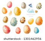 Watercolor Easter. Watercolor...