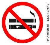 no smoking  no vaping combined... | Shutterstock .eps vector #1301467549