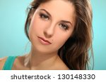 portrait of young beautiful... | Shutterstock . vector #130148330