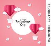 valentines day sale background... | Shutterstock .eps vector #1301486476