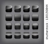 Set Of Blank Black Buttons For...