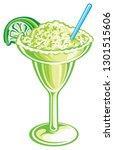 frozen margarita isolated | Shutterstock .eps vector #1301515606