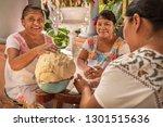 women making tortillas group of ... | Shutterstock . vector #1301515636