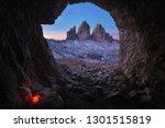 view of tre cime di lavaredo... | Shutterstock . vector #1301515819