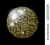 glitter ball design | Shutterstock . vector #130152104