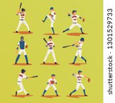 Baseball Players In Different...