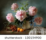 Still Life With Pink Peonies...