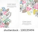 floral brochure card