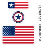 american flags and a badge   3... | Shutterstock .eps vector #130156784