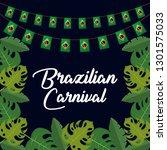 brazilian carnival with... | Shutterstock .eps vector #1301575033