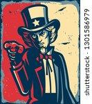 american illustration vintage | Shutterstock .eps vector #1301586979