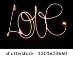 love painted with lantern | Shutterstock . vector #1301623660