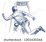 bowling   an sportman. an hand... | Shutterstock . vector #1301630266