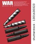 war movie poster design with... | Shutterstock .eps vector #1301630323