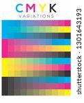cmyk colors variations pallete | Shutterstock .eps vector #1301643193