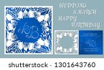 vector greeting card for... | Shutterstock .eps vector #1301643760