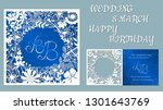 vector greeting card for... | Shutterstock .eps vector #1301643769