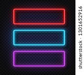 neon light banners set. vector... | Shutterstock .eps vector #1301652916