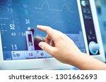 monitoring patient's vital sign ... | Shutterstock . vector #1301662693