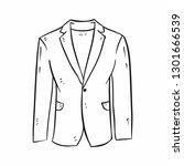 vector hand drawn suit jacket... | Shutterstock .eps vector #1301666539