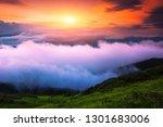amazing morning sunrise in... | Shutterstock . vector #1301683006