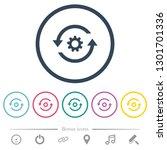 refresh settings flat color... | Shutterstock .eps vector #1301701336
