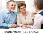senior couple discussing... | Shutterstock . vector #130170563