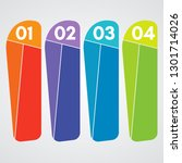 four elements of infographic... | Shutterstock . vector #1301714026