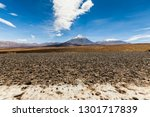 view of the active volcano... | Shutterstock . vector #1301717839