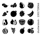 fruit icon vector  | Shutterstock .eps vector #1301728066